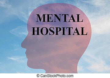 concepto de hospital mental