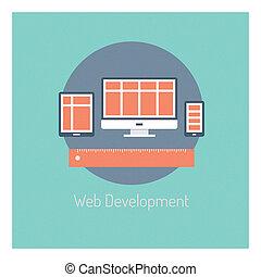 Concepto de ilustración de desarrollo Web