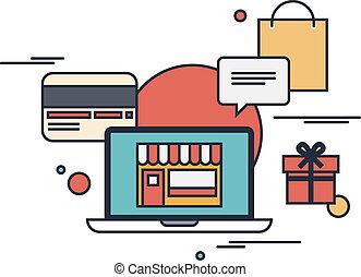Concepto de ilustración en línea