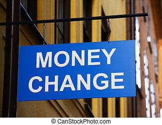 Concepto de intercambio de dinero