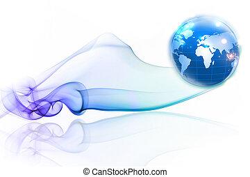 Concepto de Internet de los negocios globales de la serie de conceptos