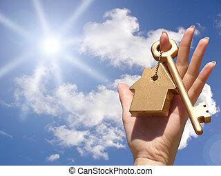 Concepto de la propiedad de casa