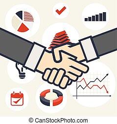 Concepto de negocios apretón de manos