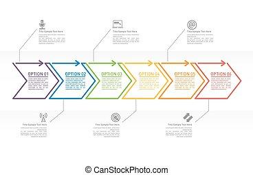 Concepto de negocios con 6 opciones máximas