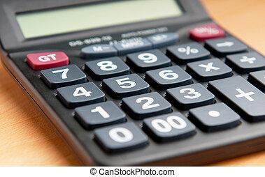 Concepto de negocios con calculadora contable
