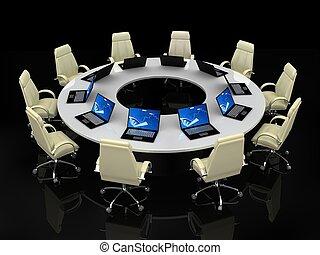 Concepto de negocios. Conferencia financiera