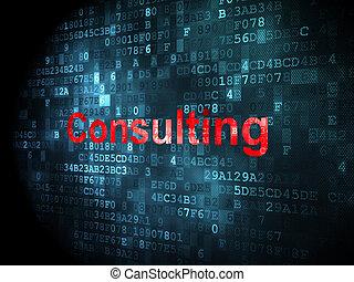Concepto de negocios: consultar a fondo digital