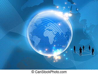 Concepto de negocios global