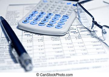Concepto de negocios: informe financiero