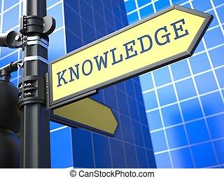 Concepto de negocios. Signo de conocimiento.