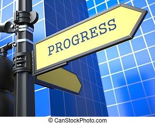 Concepto de negocios. Signo de progreso.