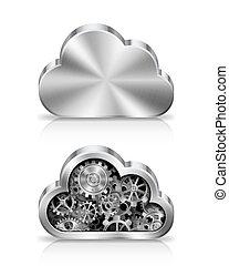 Concepto de nubes.