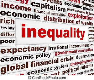 Concepto de palabras creativas de igualdad