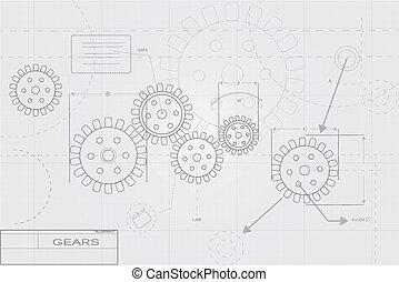 Concepto de planos en blanco