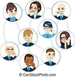 Concepto de red de negocios