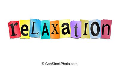 Concepto de relajación.