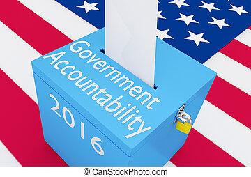 Concepto de responsabilidad gubernamental 2016