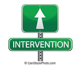 Concepto de señales de intervención