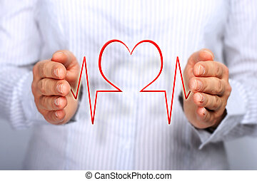 Concepto de seguro de salud.