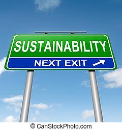 Concepto de sostenibilidad.