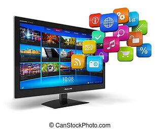 Concepto de televisión por Internet