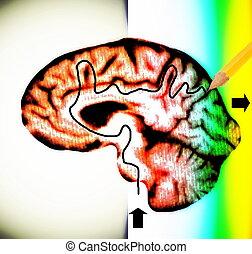 Concepto del cerebro del laberinto