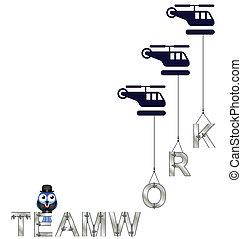 Concepto del trabajo en equipo