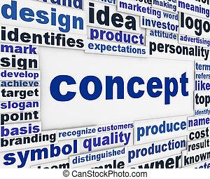 Concepto diseño de carteles
