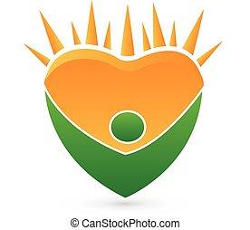 Concepto el logotipo de vector saludable