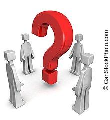 concepto, el solucionar, descubrimiento, respuesta, problema, o
