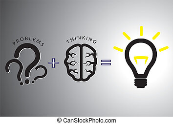concepto, el solucionar, -, solución, él, cerebro, utilizar, problema
