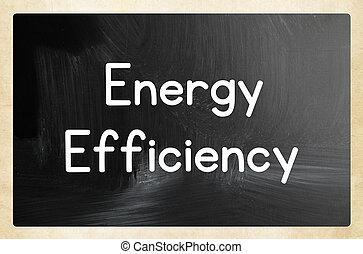 concepto, energía, eficiencia