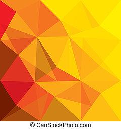 concepto, formas, naranja, vector, plano de fondo, geométrico, rojo
