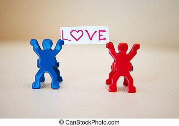Concepto foto de pareja enamorada