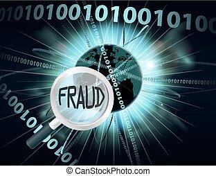 concepto, fraude, en línea
