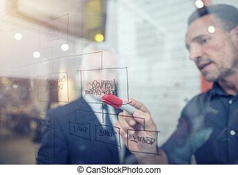 concepto, gente, trabajo, trabajo en equipo, sociedad, éxito, juntos., empresa / negocio