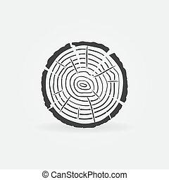concepto, icono, vector, árbol llama, rebanada