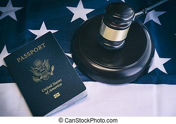 concepto, inmigración, nosotros, im, legal, ley