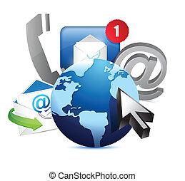 Concepto internacional de comunicación mundial