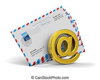 concepto, internet, mensajería, e-mail