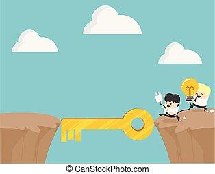 Concepto los dibujos animados símbolo de la ambición, el éxito