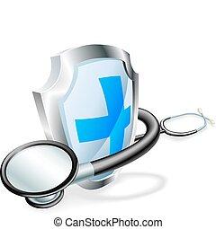 Concepto médico de estetoscopio