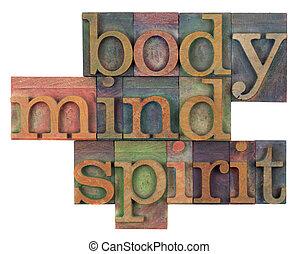 concepto, mente, cuerpo, espíritu