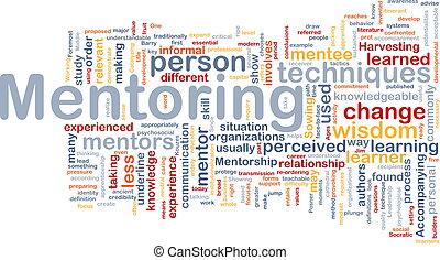 concepto, mentoring, plano de fondo