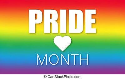 concepto, mes, orgullo, lgbtq, conocimiento