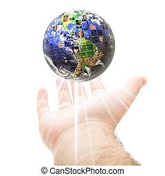 Concepto mundial de comunicación global