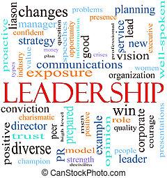 concepto, palabra, ilustración, liderazgo
