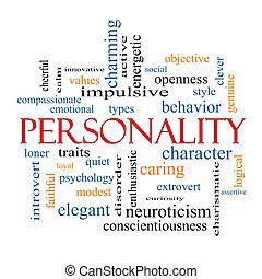 concepto, palabra, nube, personalidad