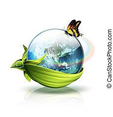 Concepto planeta ambiental