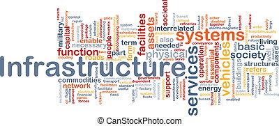 concepto, plano de fondo, infraestructura